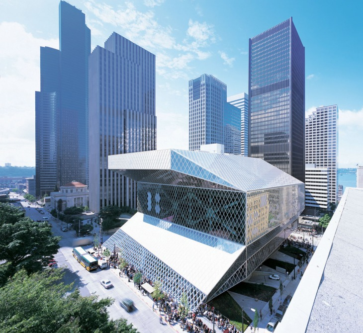Seattle Central Library , OMA ,  LMN